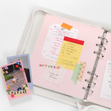 2NUL Cherry pick wide A6 6-ring pin grid note paper refill