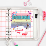 Pink - 2NUL Cherry pick wide A6 6-ring cross grid note paper refill