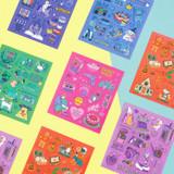 Ardium Pop illustration colorful point paper sticker ver5