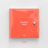 Coral - 2NUL Square drawing dateless weekly diary planner
