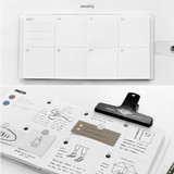 Weekly plan - Yearly plan - 2NUL Square drawing dateless weekly diary planner