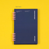 Navy blue - Ardium Color pop 10 rings dateless monthly diary planner