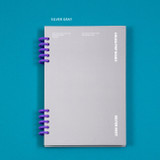 Silver Gray - Ardium Color pop 10 rings dateless monthly diary planner