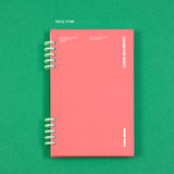 Rose Pink - Ardium Color pop 10 rings dateless monthly diary planner