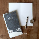 Snow - DBD House Christmas card with envelope