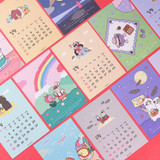 Wanna This 2021 My warm day A5 dated monthly calendar sheets