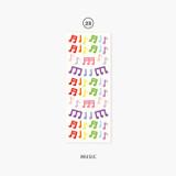 23 Music - Second Mansion Hologram confetti removable sticker seal 19-24