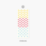 22 Sparkling - Second Mansion Hologram confetti removable sticker seal 19-24