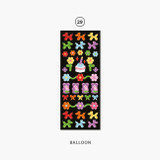 29 Balloon - Second Mansion Hologram confetti removable sticker seal 25-30