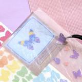 Second Mansion Hologram confetti removable sticker seal 25-30