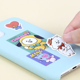 Usage example - BT21 Vintage paper removable sticker 6 sheets set