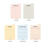 Option - Play Obje Index memo plan checklist various sticky notepad