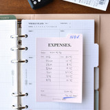 Usage example - Play Obje Index memo plan checklist various sticky notepad