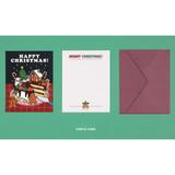 Santa cake - Ardium Merry Christmas card and envelope set