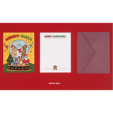 Snow ball - Ardium Merry Christmas card and envelope set