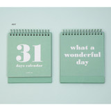 Mint - Ardium 31 days dateless daily desk calendar