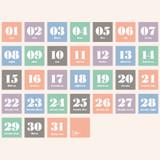 31 days - Ardium 31 days dateless daily desk calendar