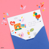 Usage example - BT21 Thank you card and envelope set