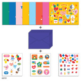 Composition- BT21 Thank you card and envelope set