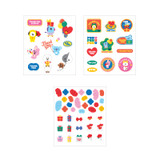 3 sticker sheets - BT21 Thank you card and envelope set