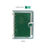 Green - Wanna This Picnic check A7 6-ring PVC binder
