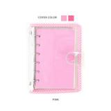 Pink - Wanna This Picnic check A7 6-ring PVC binder