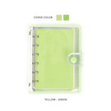 Yellow green - Wanna This Picnic check A7 6-ring PVC binder