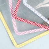 Snap button - Wanna This Picnic check A7 6-ring PVC binder