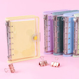 Wanna This Picnic check A7 6-ring PVC binder