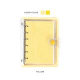 Yellow - Wanna This Picnic check A7 6-ring PVC binder