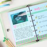Usage example - Wanna This Picnic check A7 6-ring PVC binder