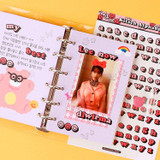 Usage example - Wanna This Palette grid paper A7 size 6 holes refills set