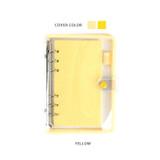 Yellow - Wanna This Picnic check A6 6-ring PVC binder