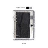 Black - Wanna This Picnic check A6 6-ring PVC binder