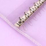 6 ring binder - Wanna This Picnic check A6 6-ring PVC binder