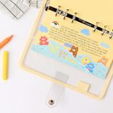 Usage example - Wanna This Picnic check A6 6-ring PVC binder