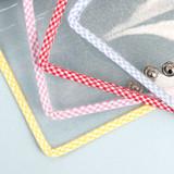 Snap button closure - Wanna This Picnic check A6 6-ring PVC binder