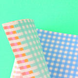 Wanna This Picnic check A6 size 6 holes paper refills set