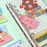 Usage example - Wanna This Picnic check A6 size 6 holes paper refills set