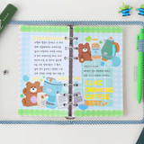 Light - Wanna This Picnic check A6 size 6 holes paper refills set