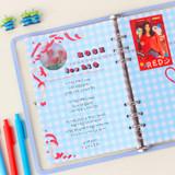 Usage example - Wanna This Picnic check A5 6-ring PVC binder