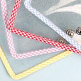 Snap button - Wanna This Picnic check A5 6-ring PVC binder