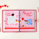 Usage example - Wanna This Picnic check A5 size 6 holes paper refills set