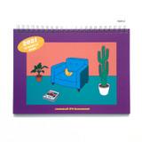 Purple - Design Comma-B 2021 Retro handy dated monthly desk scheduler