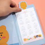 Bookmark - Kakao Friends 2021 Friends bookmark dated weekly diary