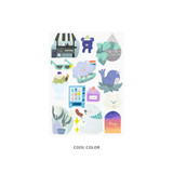 Cool Color - Oh-ssumthing O-ssum sticker for decoration ver3