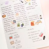 Usage example - Byfulldesign At home useful deco sticker sheet set