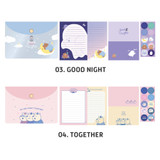 Good night, Together - ICONIC Letter and envelope set with PVC pouch