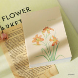 Orange - Indigo A Flowery day dated daily diary journal