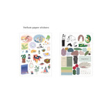 2 Simili paper sticker - ICONIC Diary deco sticker 9 sheets in one set ver11